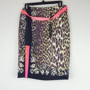Elie Tahari | Juliana Silk Leopard sprint Skirt